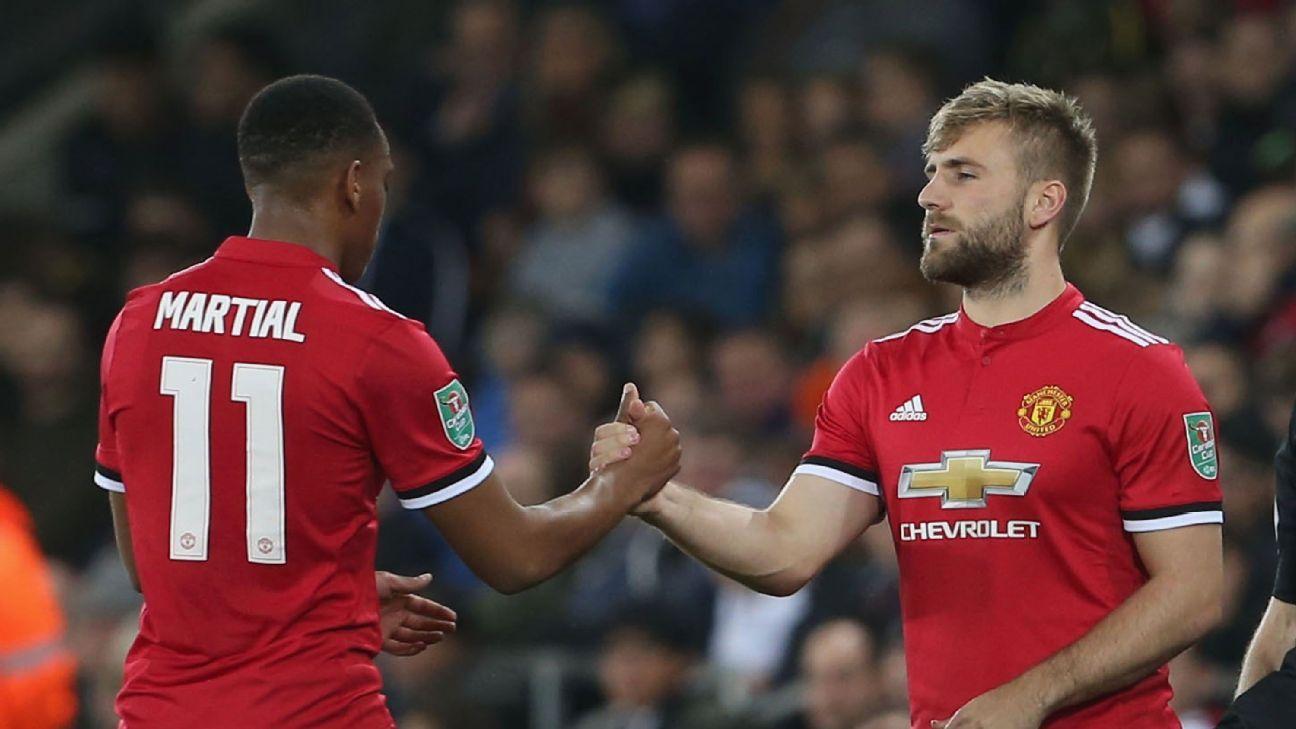 Twenty-two-year-olds Anthony Martial and Luke Shaw face uncertain futures with Man United.