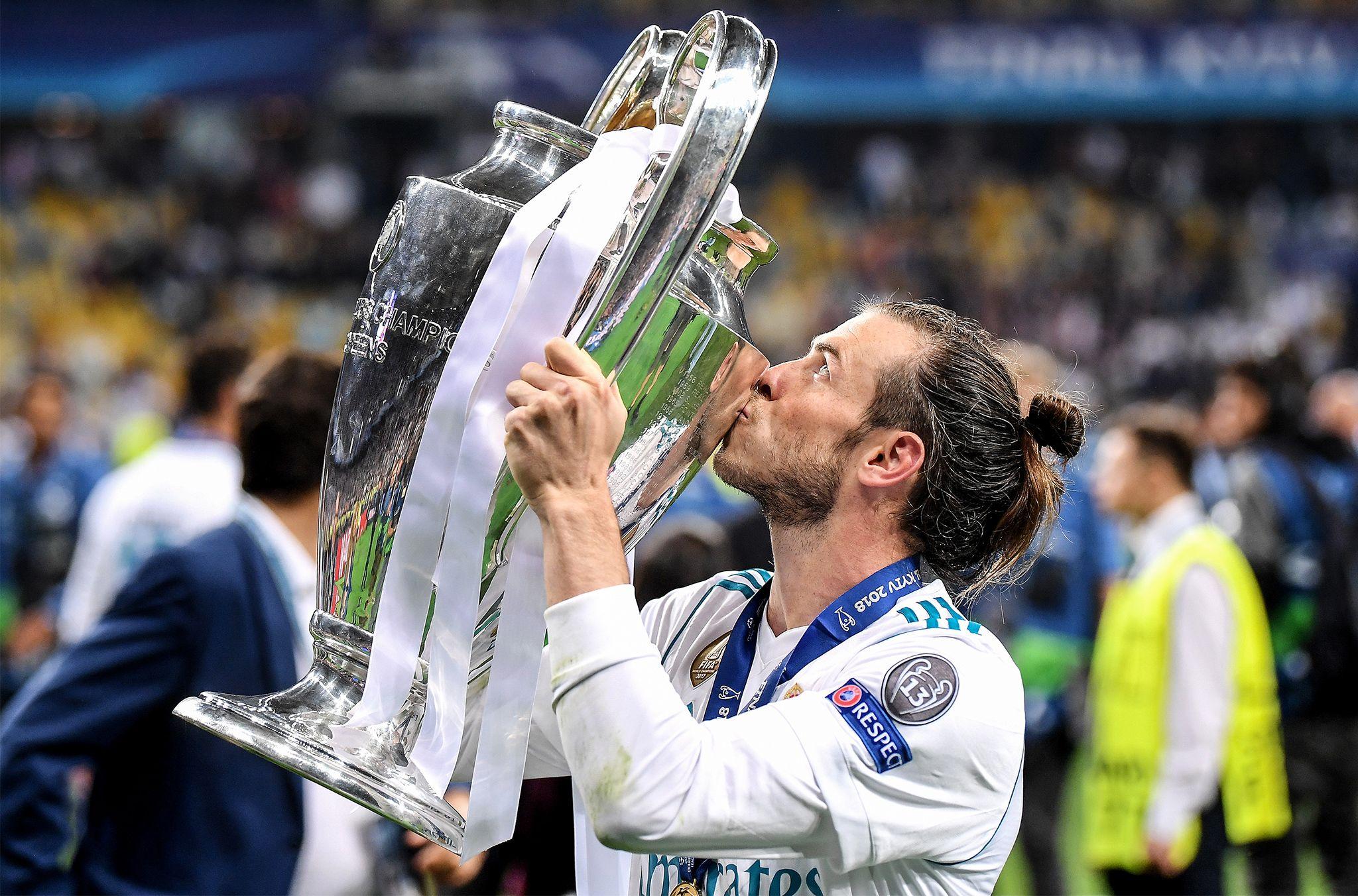 Gareth  wins kick the Champions brilliant bicycle Bale