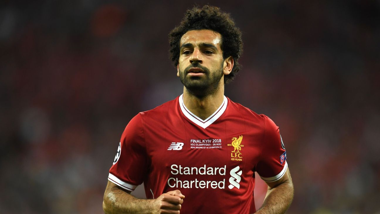 Mohamed Salah during the Champions League final against Real Madrid.