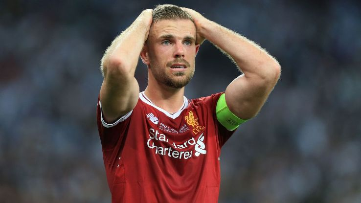 Jordan Henderson captained Liverpool as they were beaten by Real Madrid in the Champions League final.