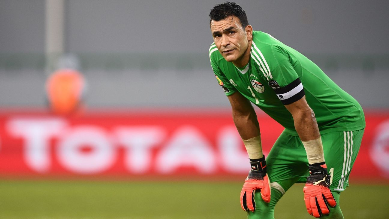 Essam El-Hadary, 45, is about to become the oldest man to play in a World Cup.