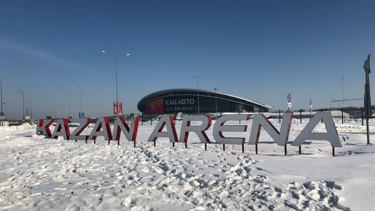 Kazan Arena was originally built for the 2013 Youth Games but has hosted things like the Confederations Cup in the years since. It's also home to Rubin Kazan, former Russian champions who have suddenly slid downhill.