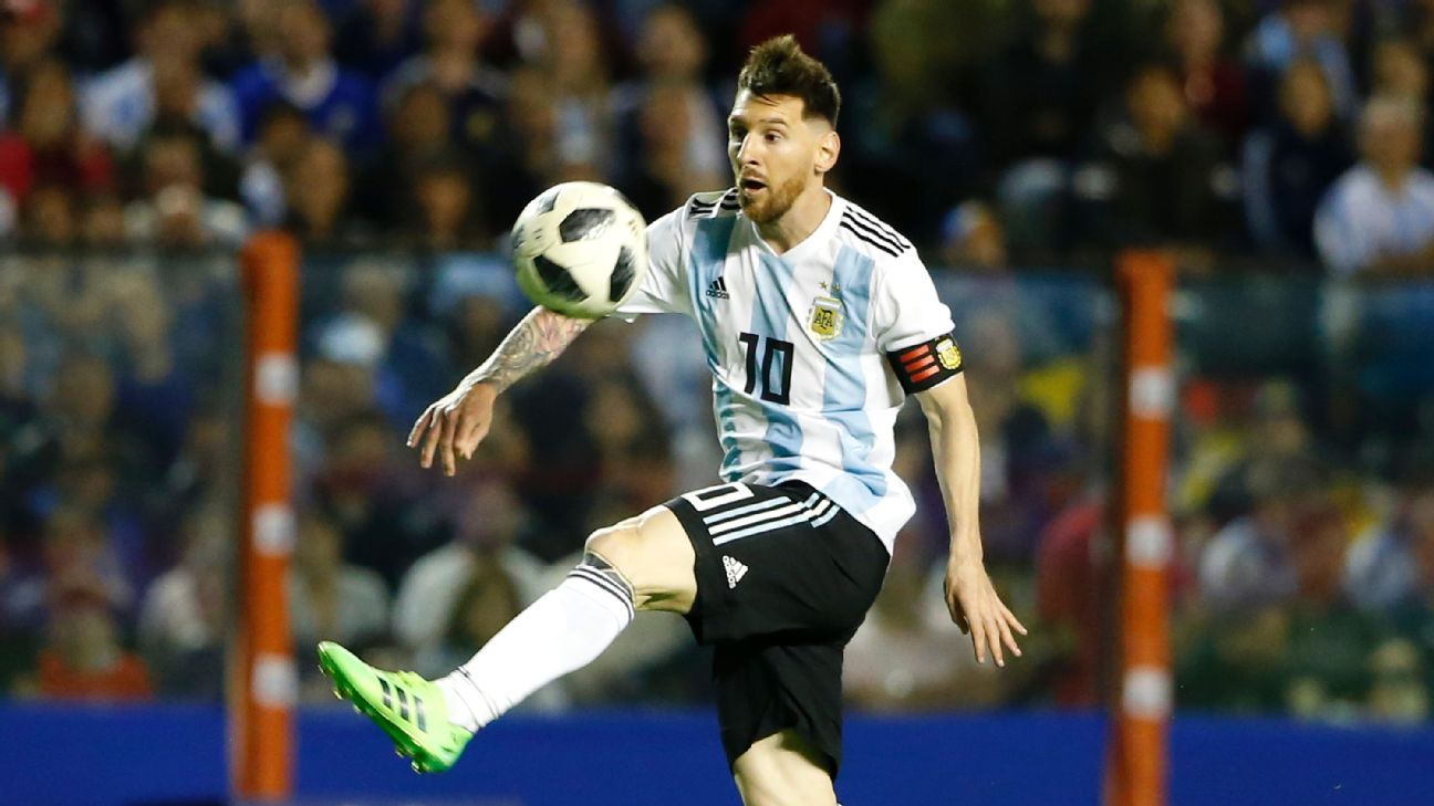 Lionel Messi scored three times as Argentina easily dispatched of Haiti in their friendly.