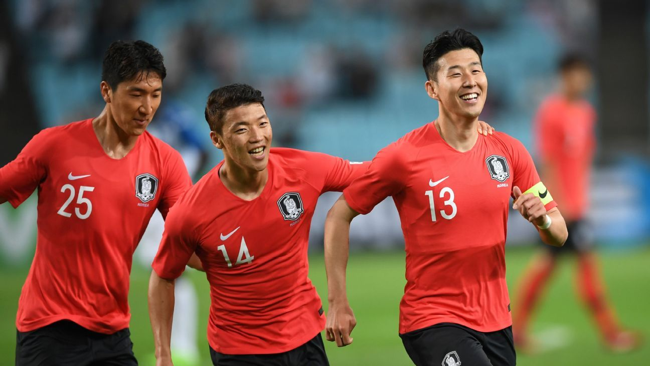Son Heung-min started South Korea's World Cup preparations in style with a long-range blast.