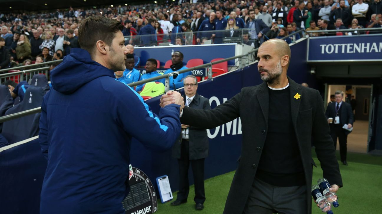 Pep Guardiola admires many of his progressive peers, including Tottenham's Mauricio Pochettino.