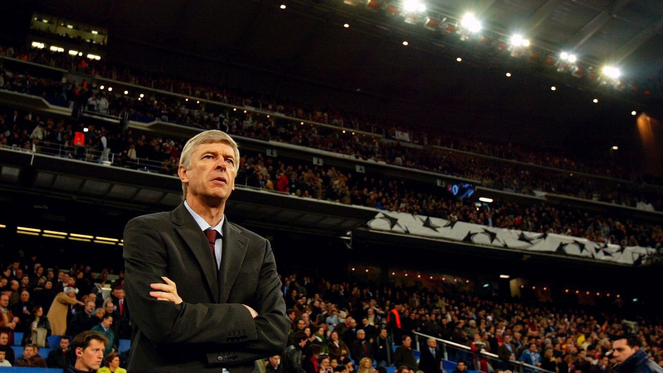 Arsene Wenger's Arsenal beat Real Madrid in the Champions League round of 16 at the Bernabeu in 2006