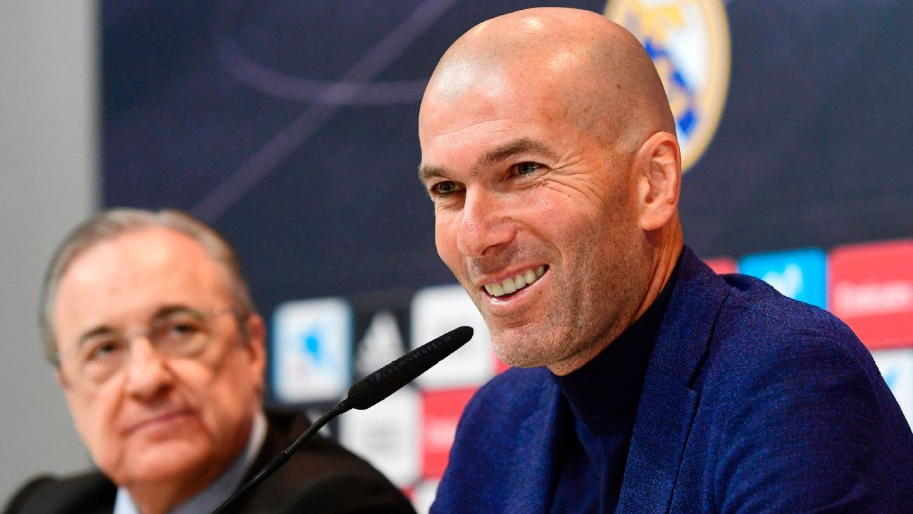 Zinedine Zidane's Real Madrid exit took president Florentino Perez by surprise.