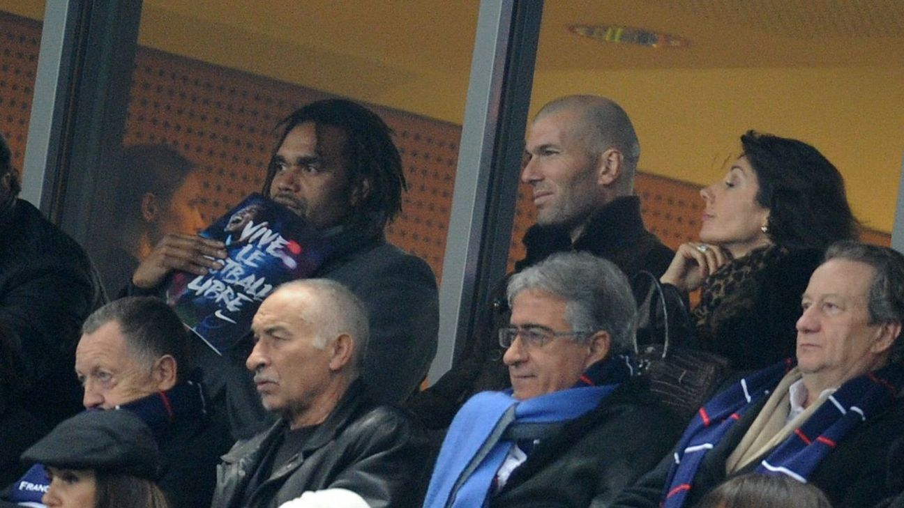 Zinedine Zidane and Christian Karembeu were teammates in France's 1998 World Cup and Euro 2000-winning sides
