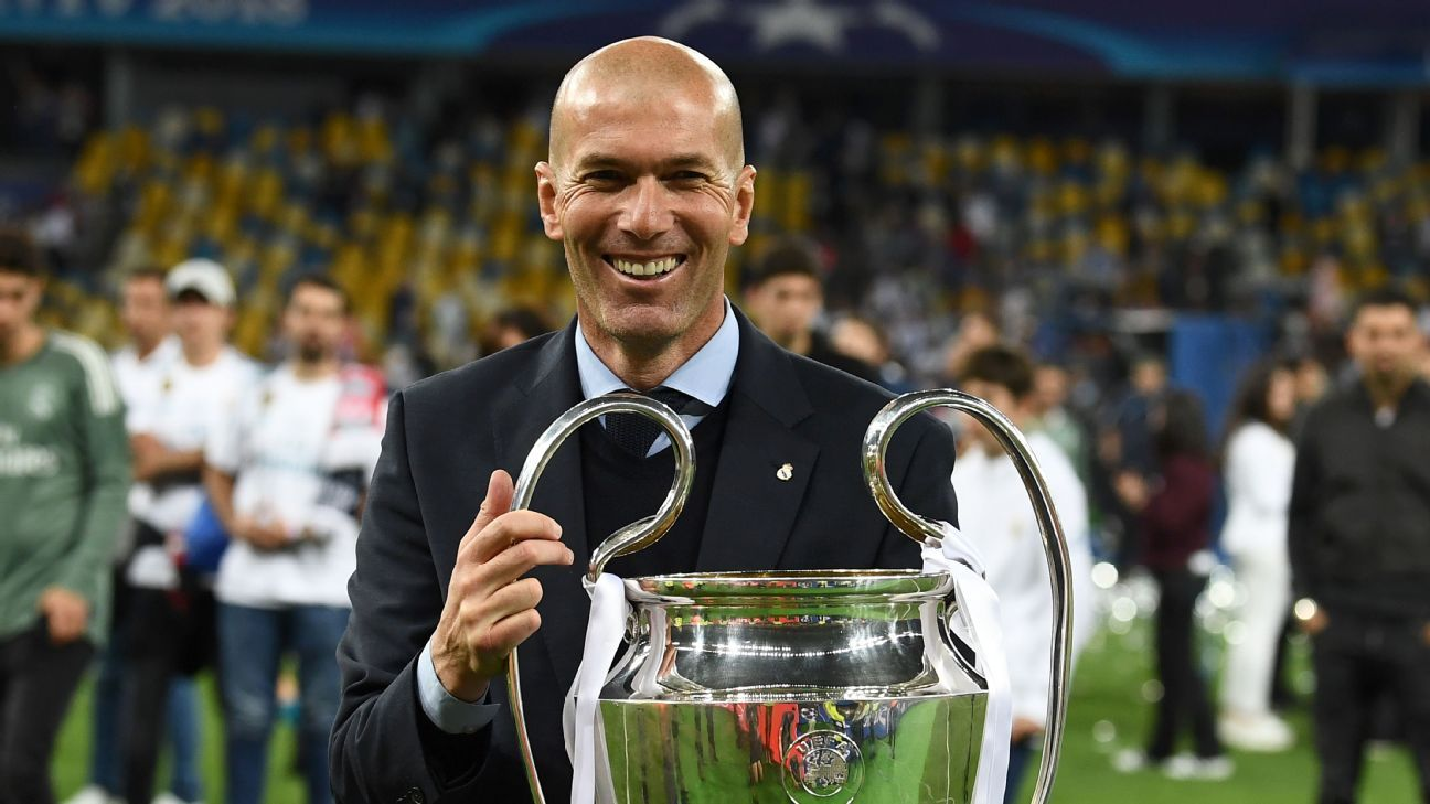 Zinedine Zidane amazingly led Real Madrid to three UCL titles in less than three years.