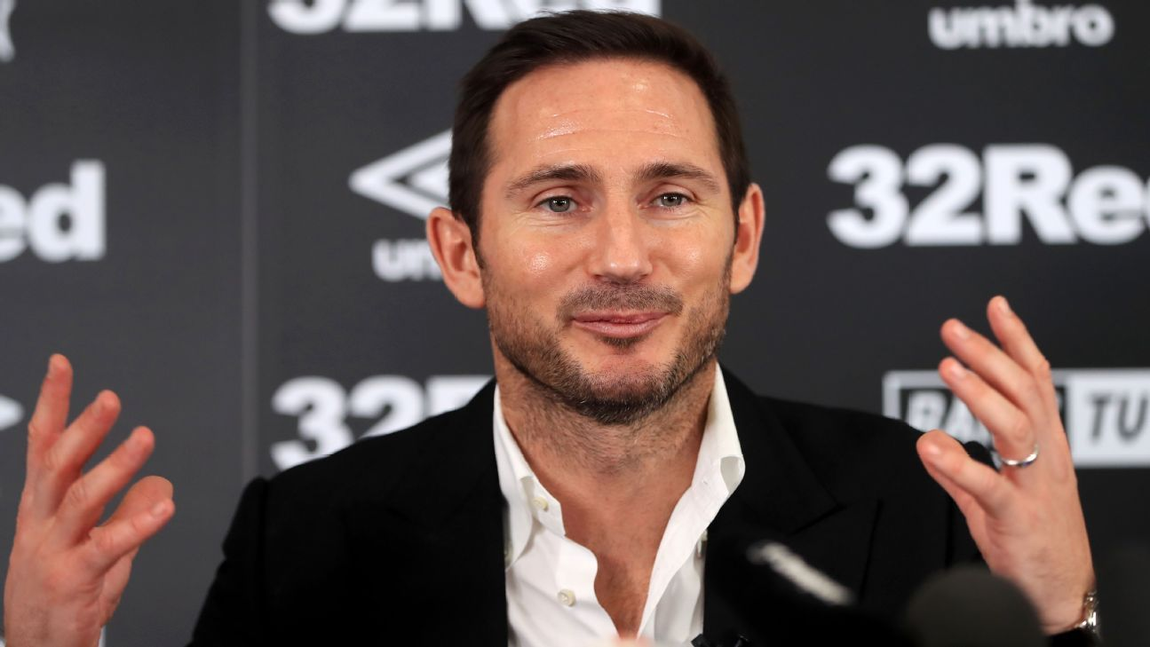 New Derby County manager Frank Lampard during the news conference at Pride Park.