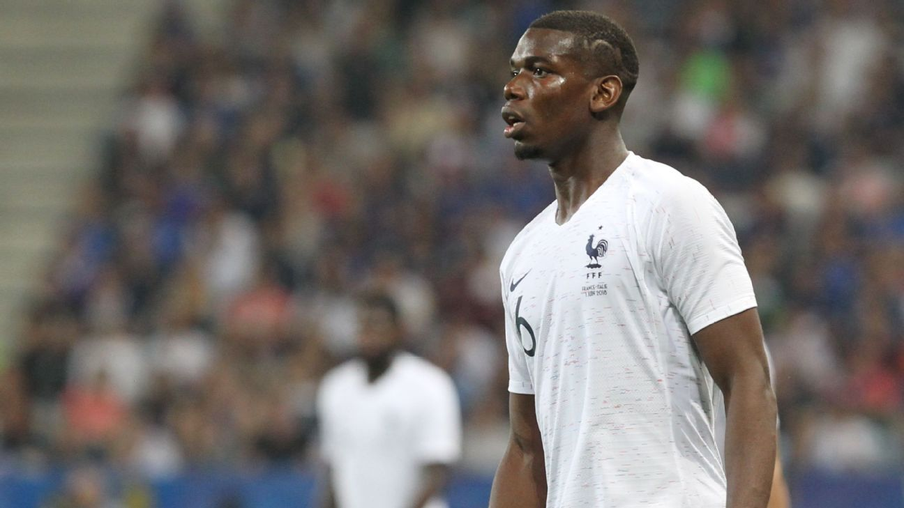 Paul Pogba was jeered by some fans in Nice during France's pre-World Cup friendly win over Italy
