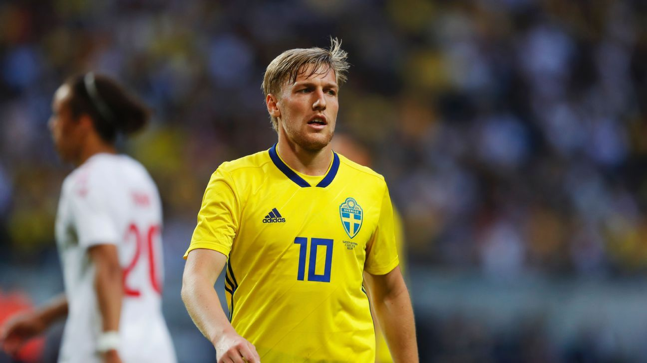 With no Zlatan Ibrahimovic, Sweden will lean heavily on Emil Forsberg for creativity.
