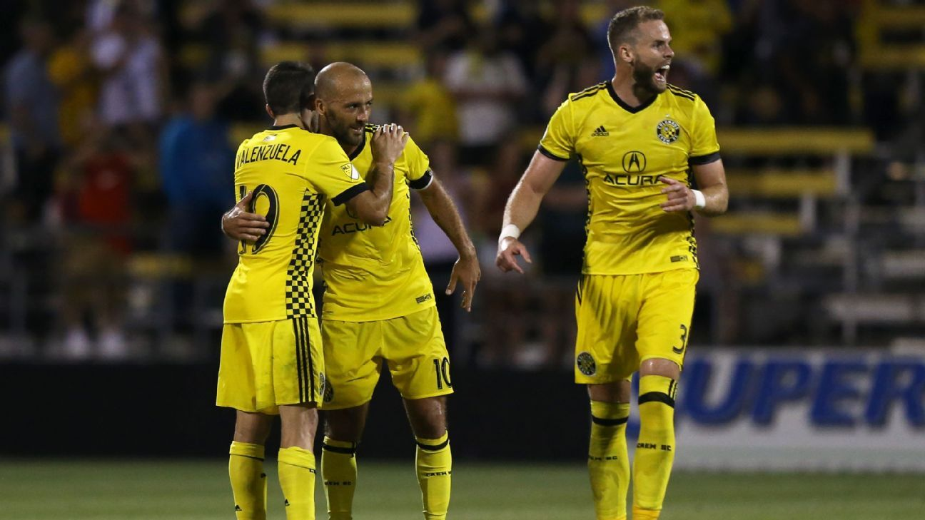 Columbus Crew SC rallies from three goals down to draw with Toronto FC