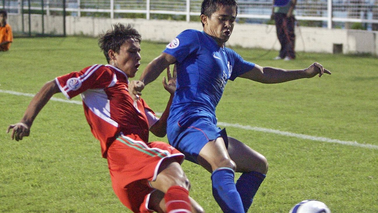 Sunil Chhetri's first hat-trick for India came against Tajikistan in the AFC Challenge Cup in 2008.