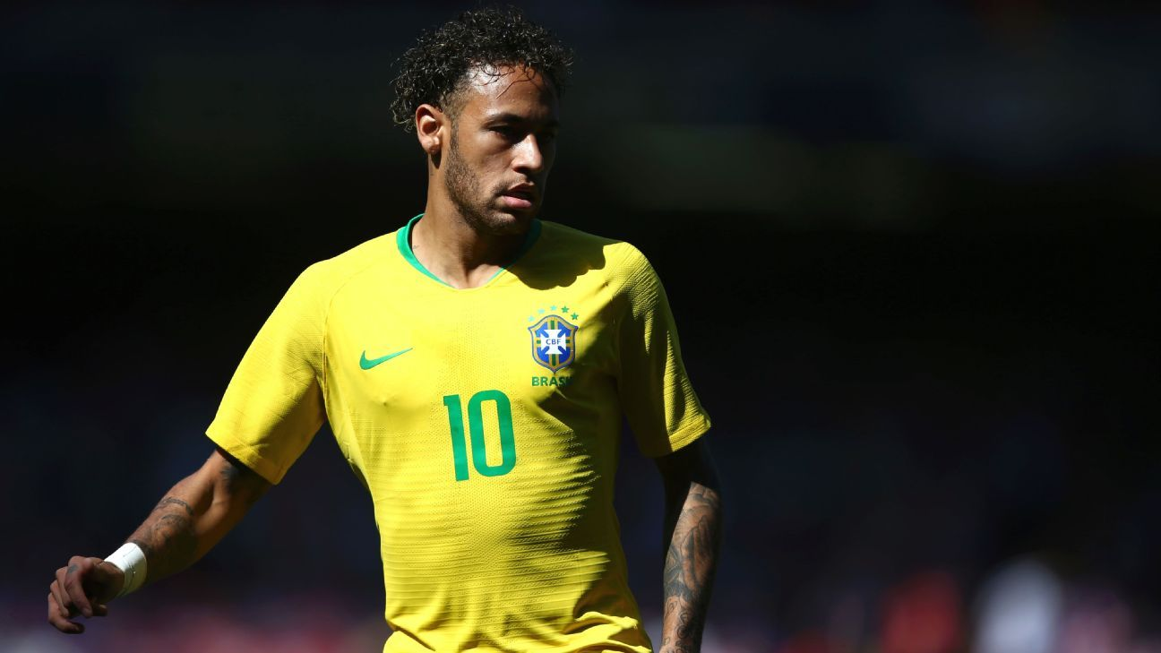 Neymar during the friendly between Brazil and Croatia.
