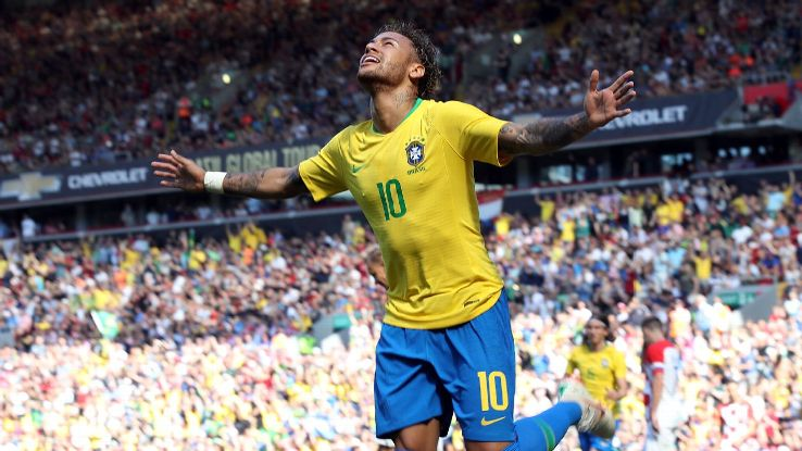 Fit again Neymar carries Brazil's World Cup hopes squarely on his shoulders.