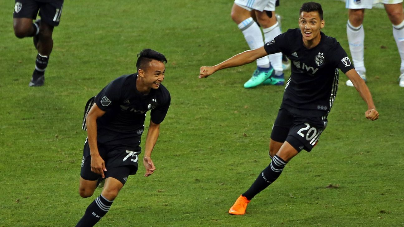 Wan Kuzain's first goal helps Sporting Kansas City down Minnesota United