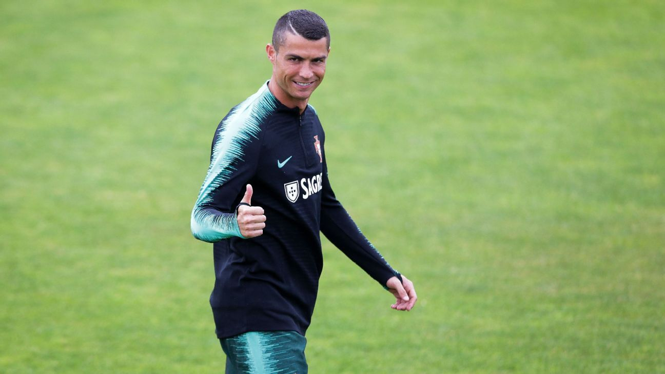 Cristiano Ronaldo reported to Portugal training ahead of the World Cup.