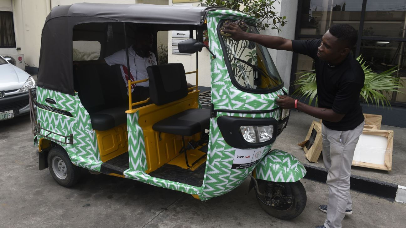 How cool is the new Nigeria team shirt? Well, it's good enough for this man to kit out his rickshaw in the Super Eagles' colours.