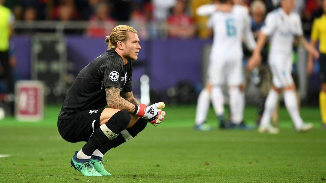 Loris Karius' made two errors leading to goals in the Champions League final.