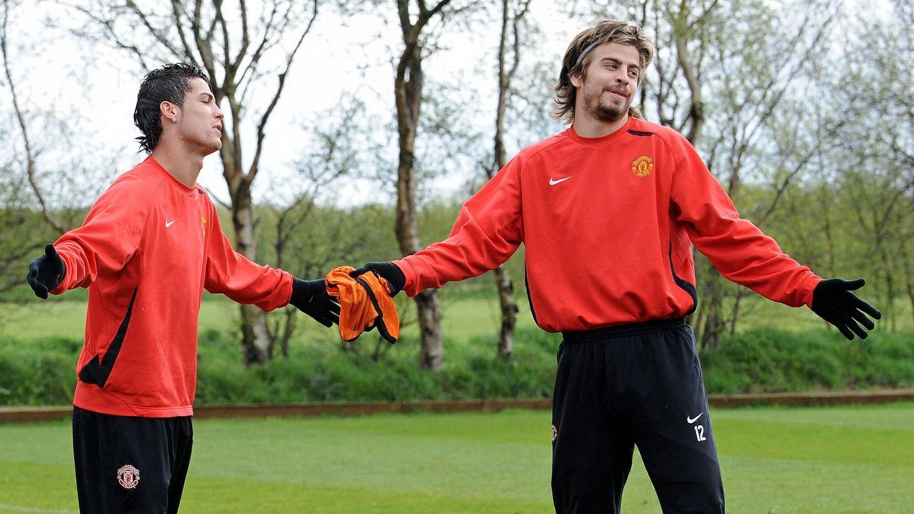 Ronaldo and Pique spent some formative years at Manchester United and fought hard to add grit and power to their classy play.