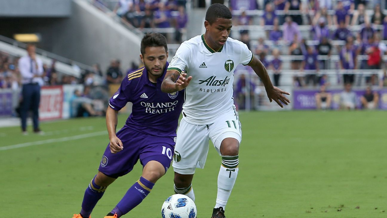 Polo, right, is still finding his feet in MLS but his potential has him on the plane to Russia.