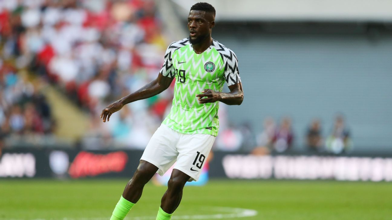 John Ogu is a strong physical presence on the field for Nigeria, when he gets a chance to play.