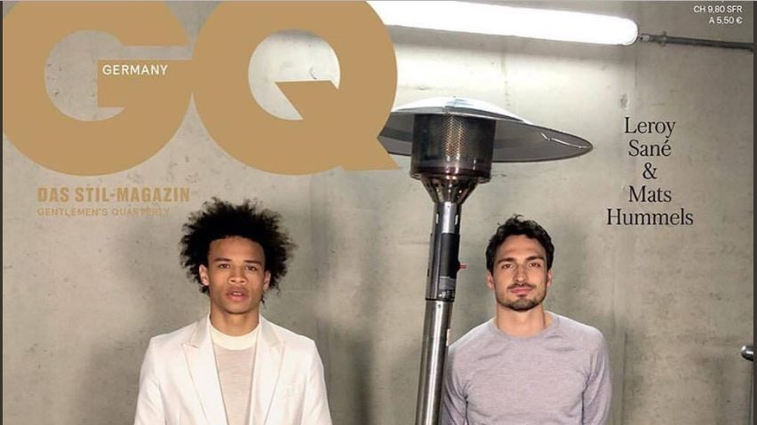 Leroy Sane and Mats Hummels appear on the cover of German GQ