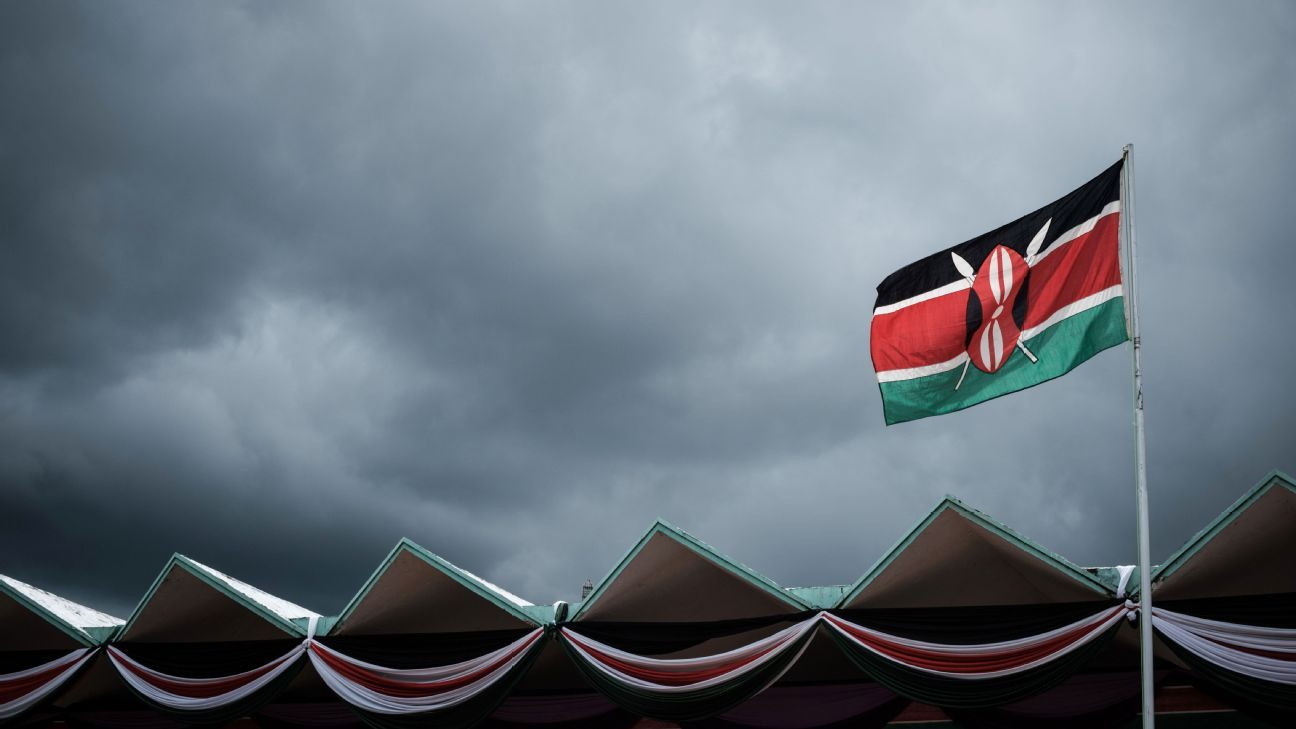 Clouds above a Kenyan sky