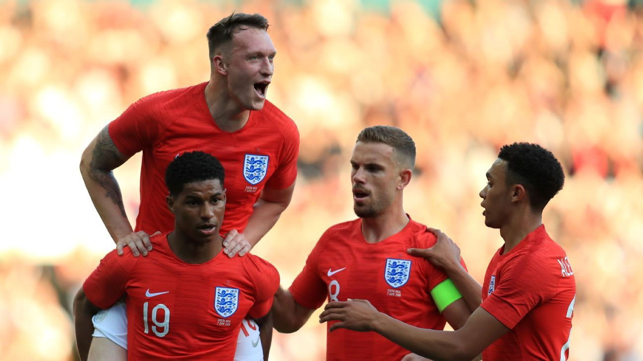 England begin their World Cup campaign vs. Tunisia on June 18.
