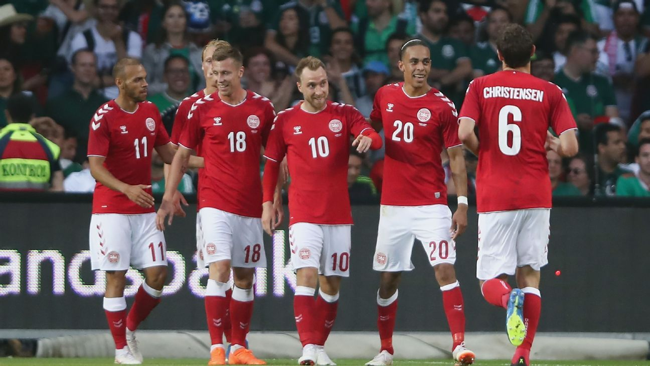 Denmark's main man Christian Eriksen bagged the Danes' second vs. Mexico.