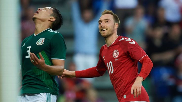 Eriksen was on target for Denmark as Mexico wrapped up a difficult period of World Cup preparation with a 2-0 defeat in Copenhagen.