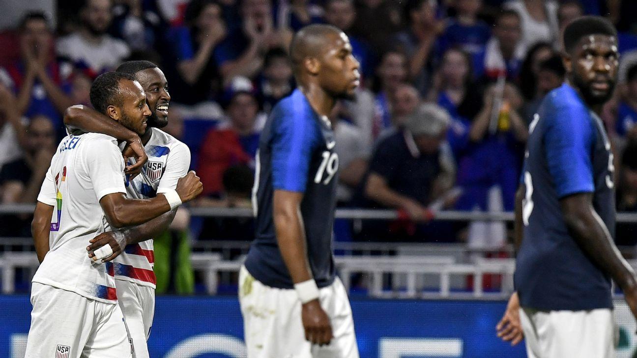Julian Green's first-half goal helped the U.S. stake an impressive 1-1 draw vs. France.
