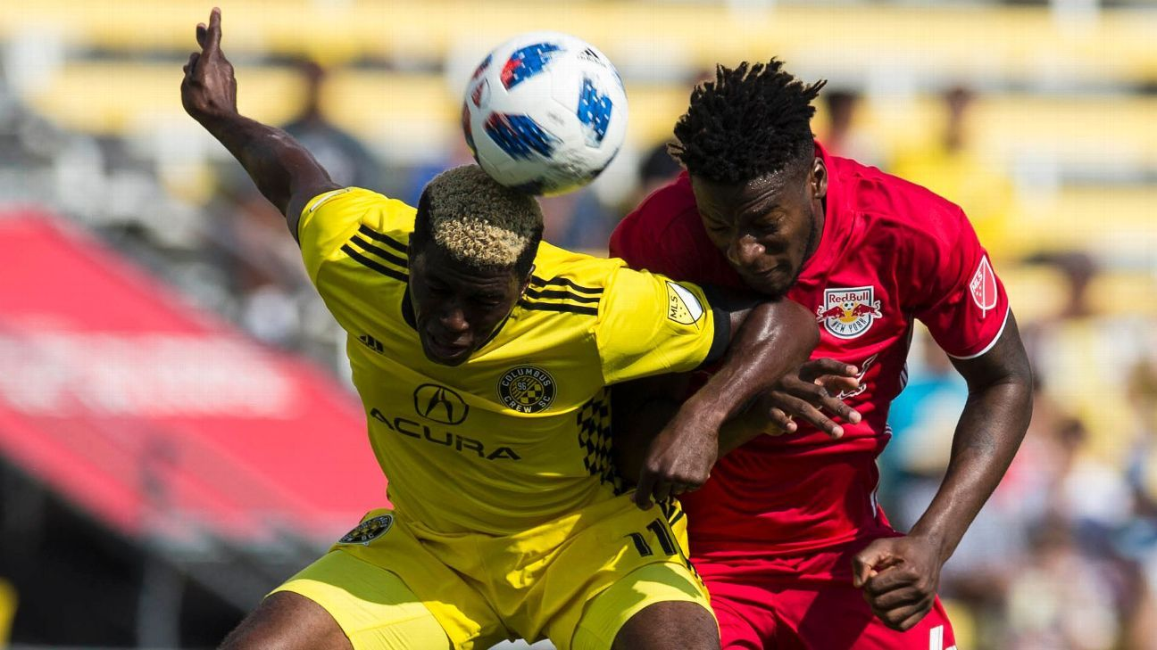 Gyasi Zardes scores as Columbus Crew draw with NY Red Bulls