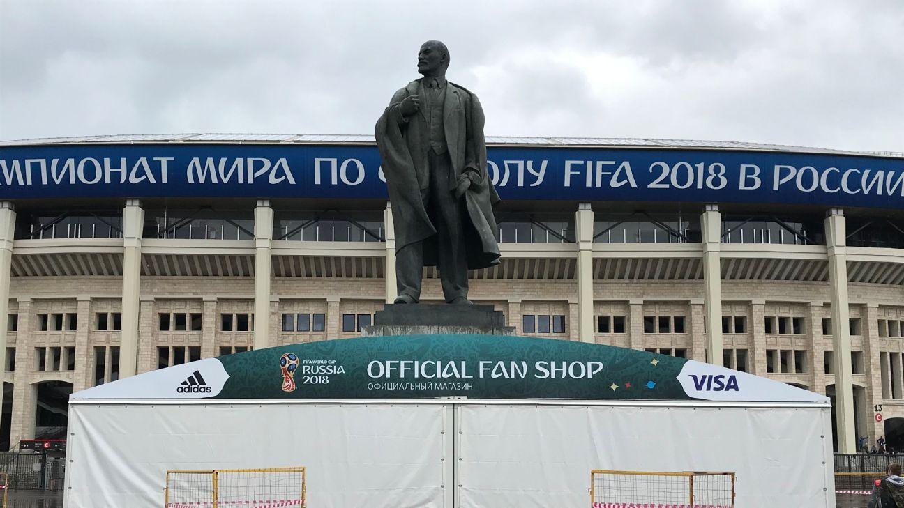 The epitome of private enterprise: A grand statue of Lenin at Moscow's Luzhniki Stadium