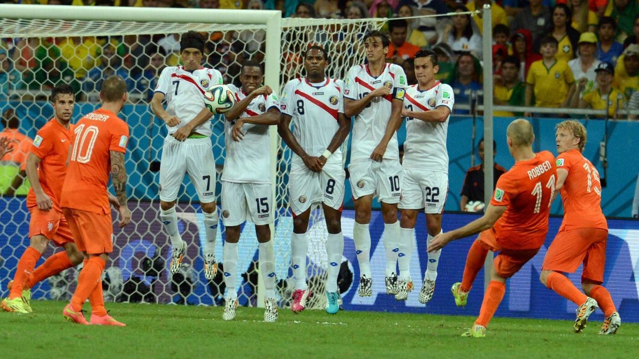 Costa Rica were a fun wild card team in 2014 but the Dutch shenanigans before the shoot-out gave the European side a spot in the final four.