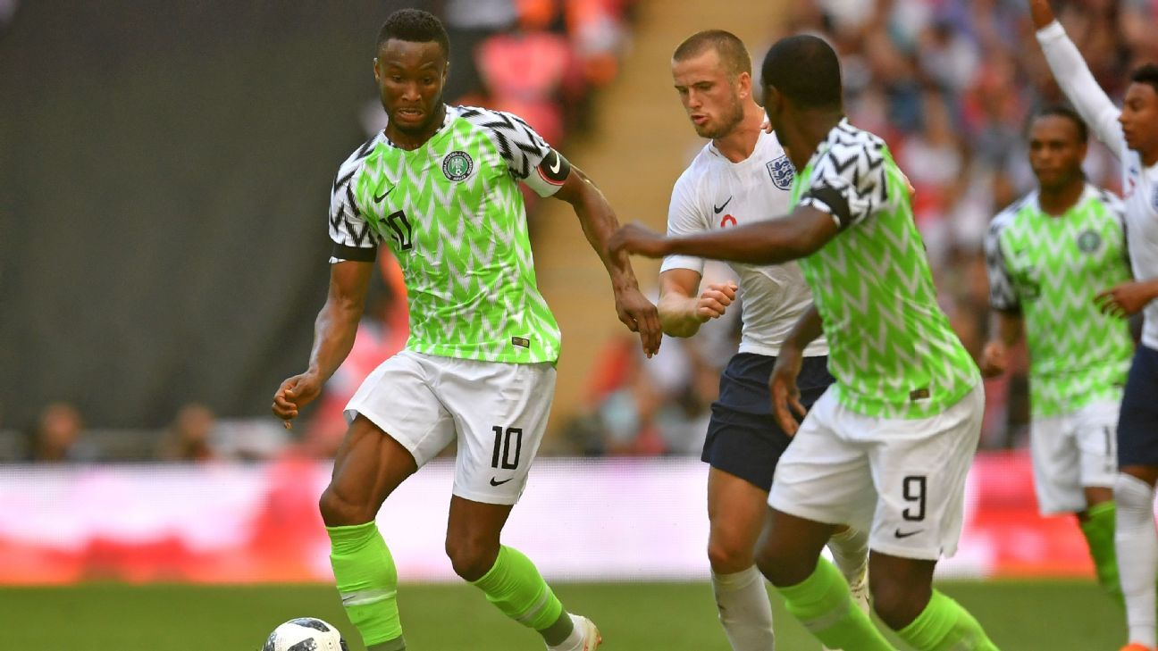 If John Mikel Obi (10) or Odion Ighalo (9) score for Nigeria at the Russia 2018 they will be breaking poor FIFA World Cup scoring records for players wearing their respective squad numbers