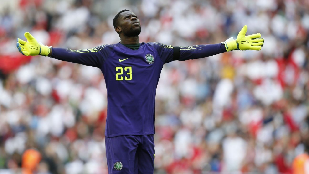 Nigeria goalkeeper Francis Uzoho will continue the trend of the youngest Super Eagles squad member wearing number 23 at a FIFA World Cup