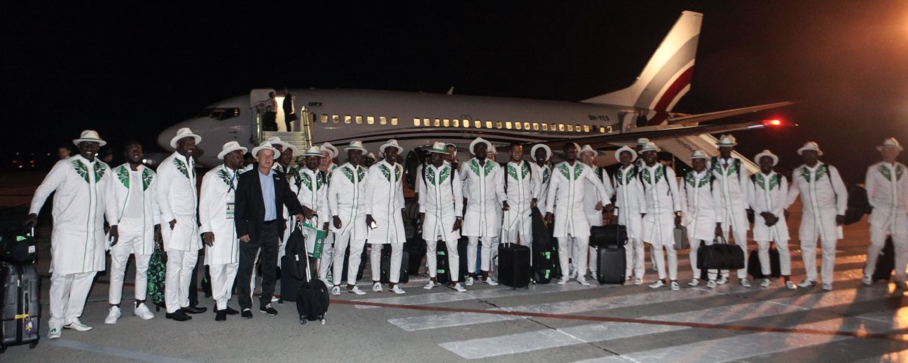 The arrival of Nigeria's national football team at Mineralnye Vody International Airport in the city of Mineralnye Vody, Stavropol Territory, Russia, ahead of FIFA World Cup Russia 2018.