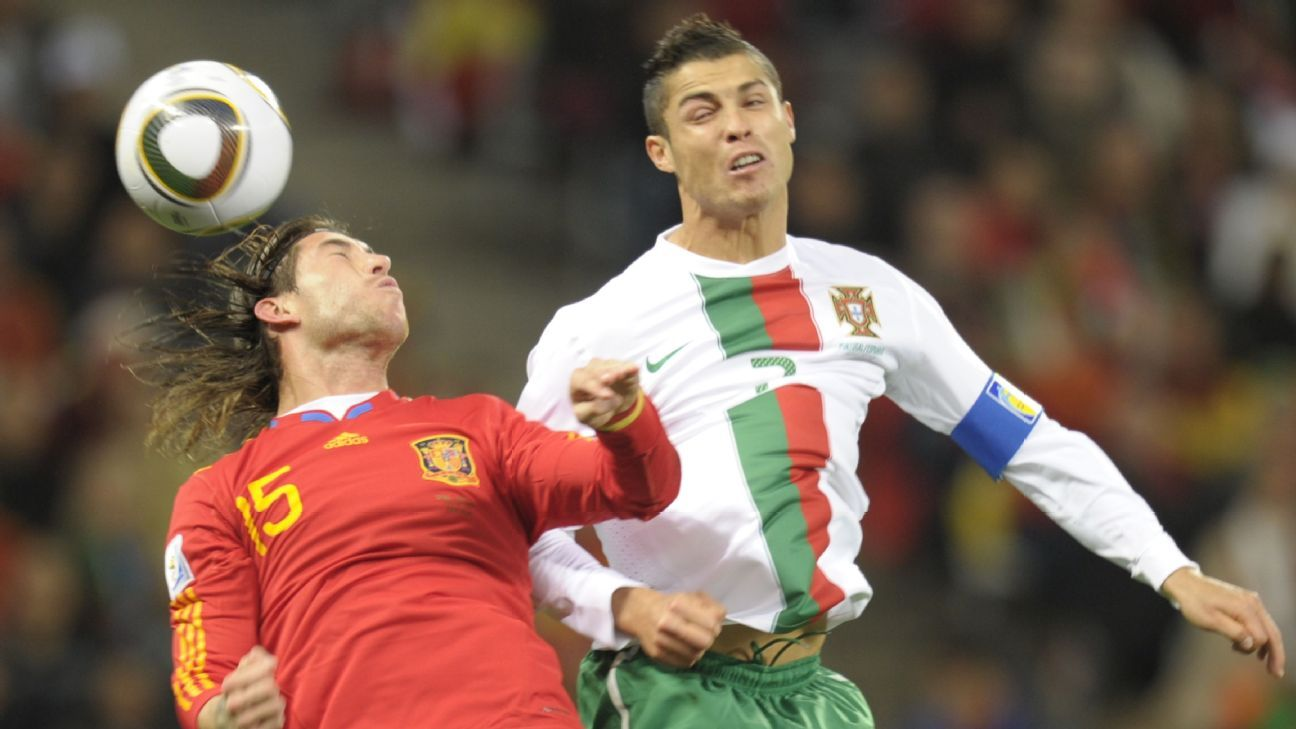 Real Madrid teammates Sergio Ramos and Cristiano Ronaldo will face off in Sochi.