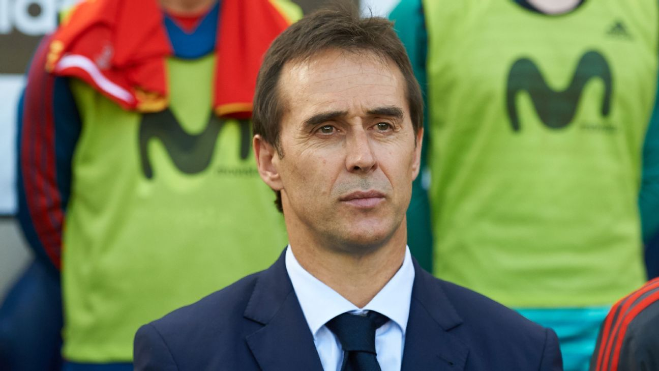 Former Spain and current Real Madrid coach Julen Lopetegui