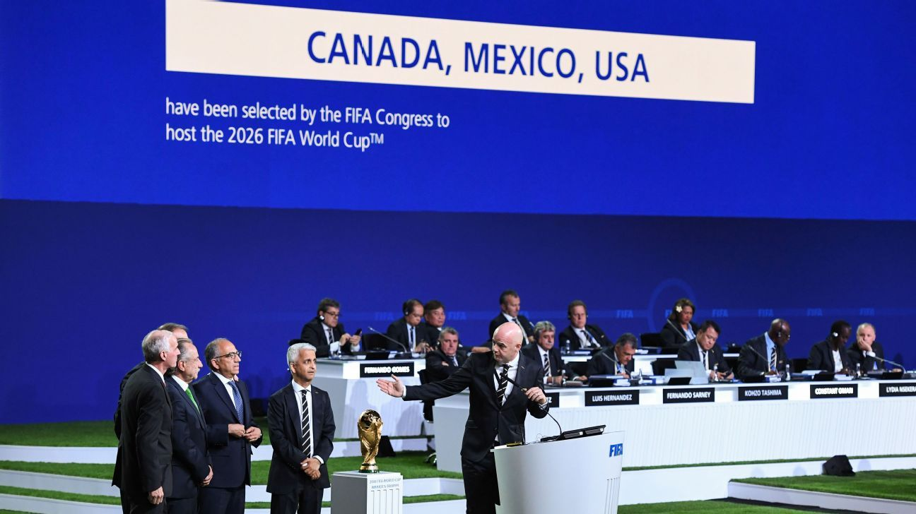 The bid from the United States, Mexico and Canada is revealed as the winner of balloting for the 2026 World Cup.