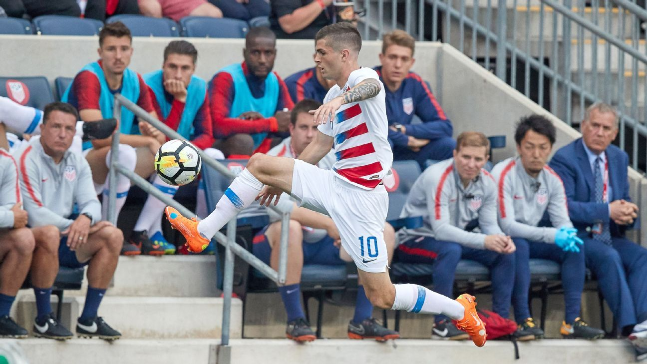 Christian Pulisic has made just one appearance in a U.S. jersey since the team's elimination from World Cup qualifying last year.