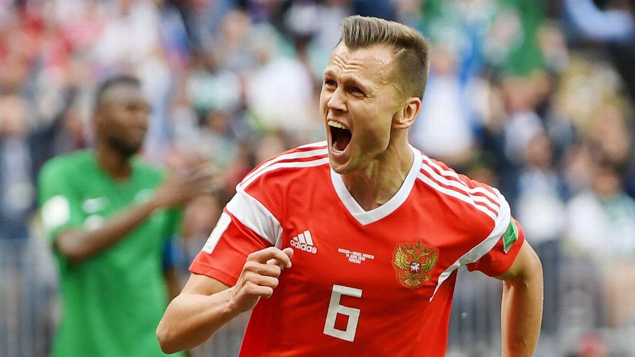 Russia's tournament opener brought a surprisingly comfortable win as sub Denys Cheryshev scored twice.