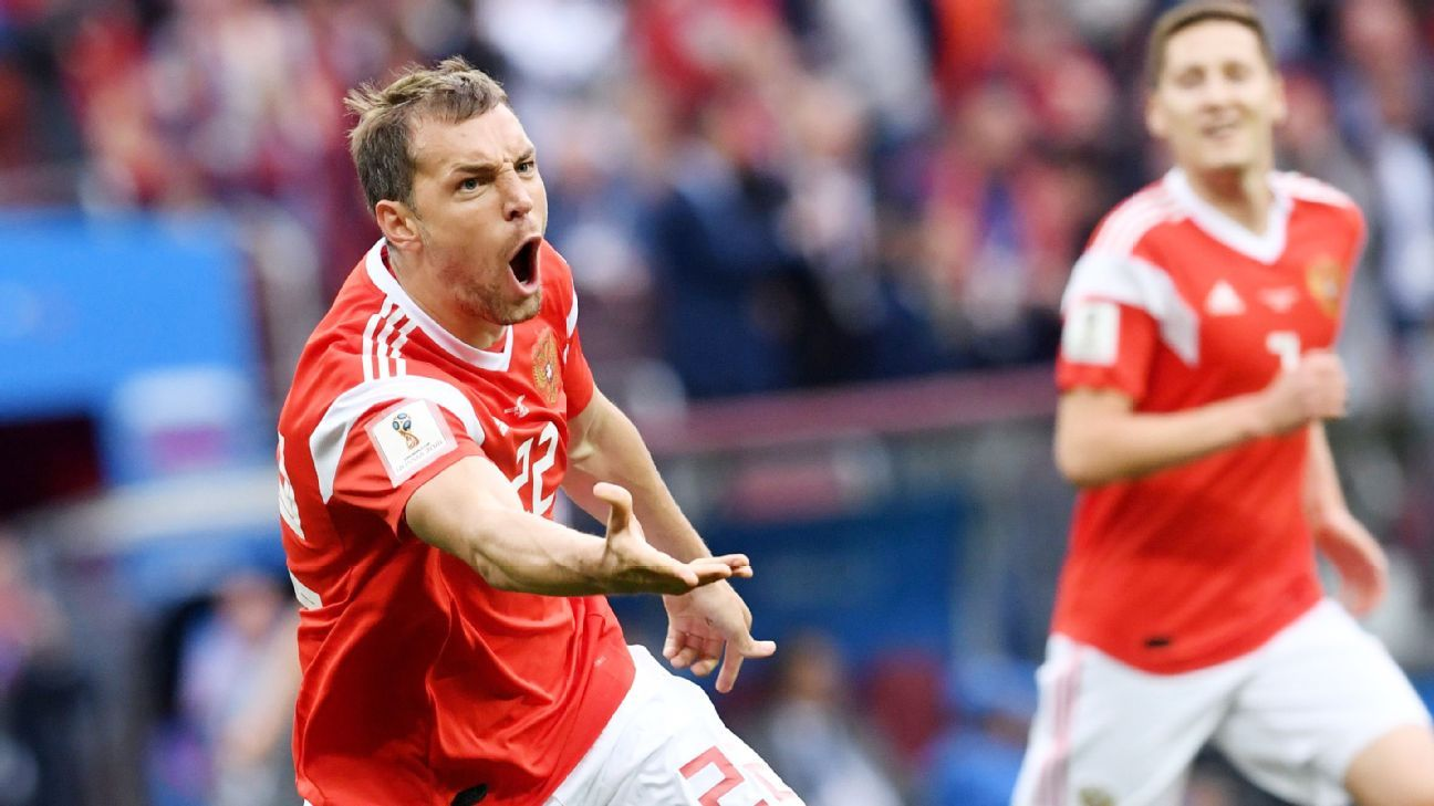 With goals in Russia's first two games, Artyom Dzyuba has emerged as an unlikely hero.