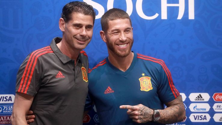 Hierro and Ramos projected a sense of calm and an understanding of Spain's mission this summer following the stunning exit of Lopetegui.