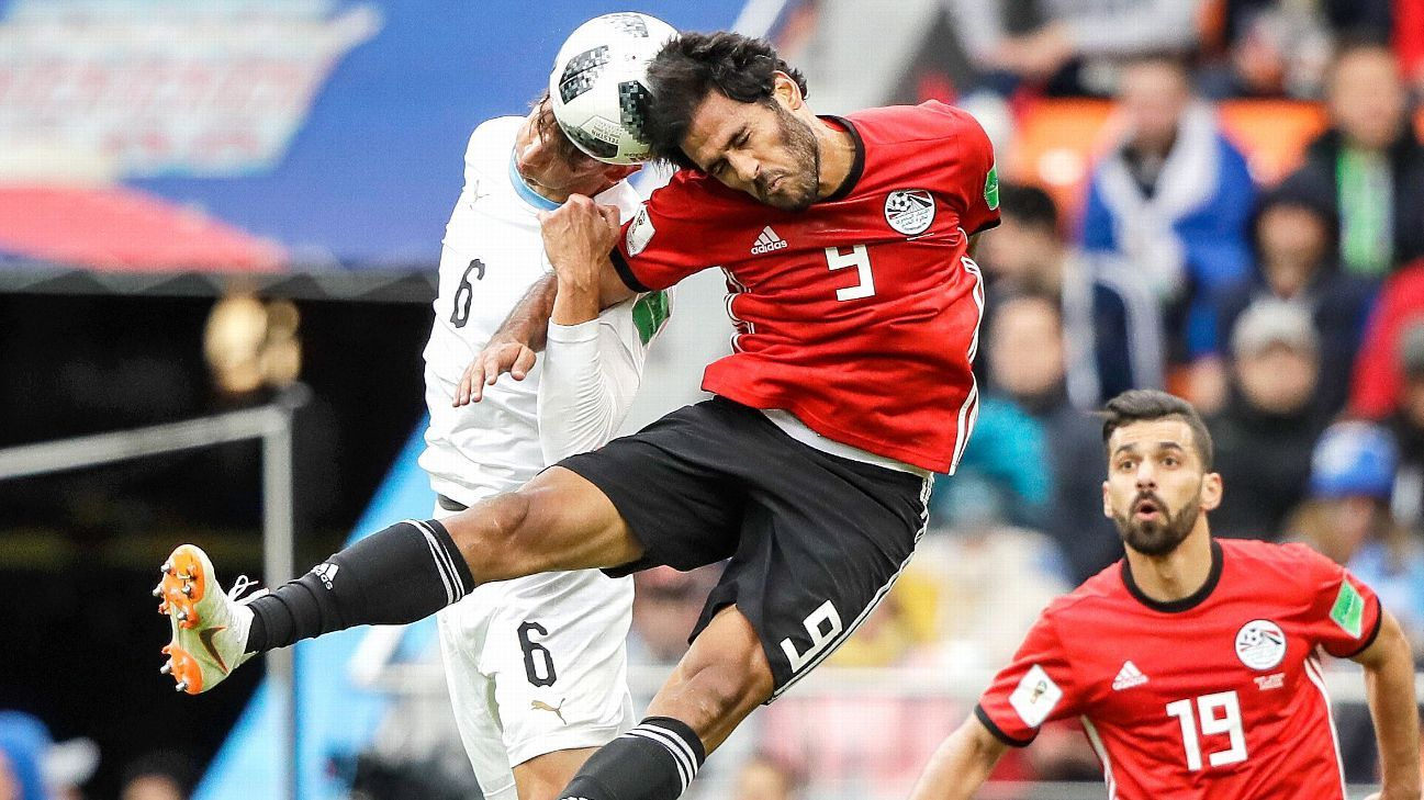 Egypt fought hard but looked especially limited without their talisman Salah, who watched from the bench.
