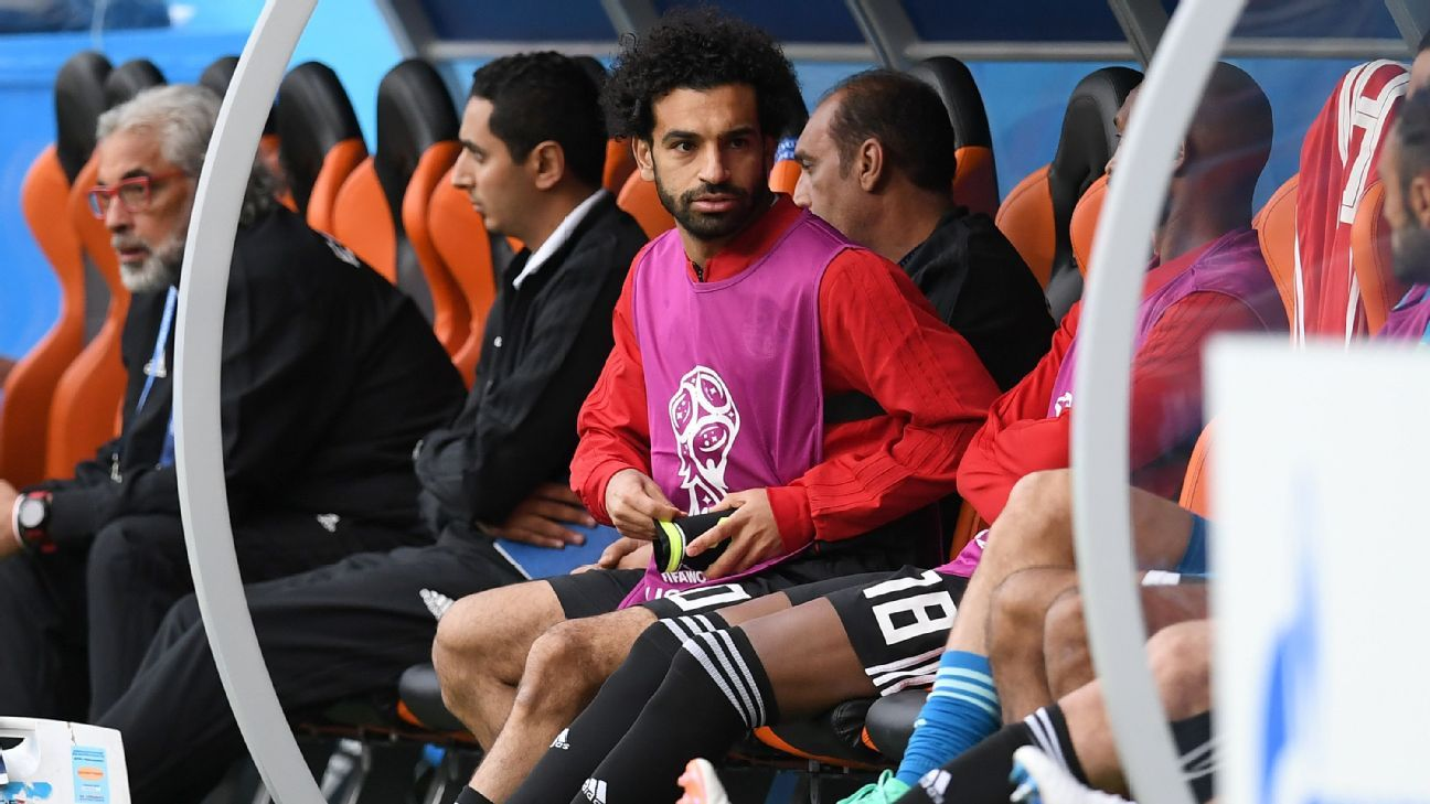 Mohamed Salah did not make it off the Egypt bench against Uruguay