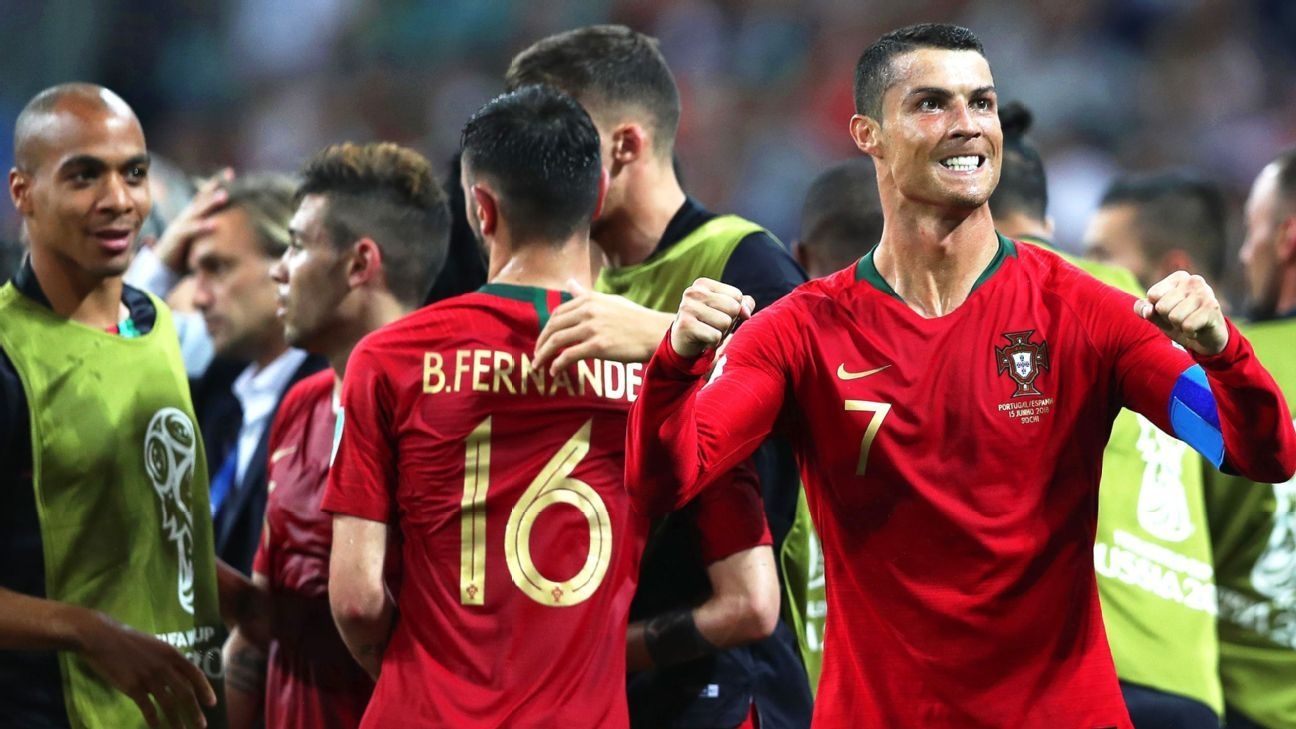 Cristiano Ronaldo. Group B Portugal vs Spain, Sochi, Russian Federation - 15 Jun 2018