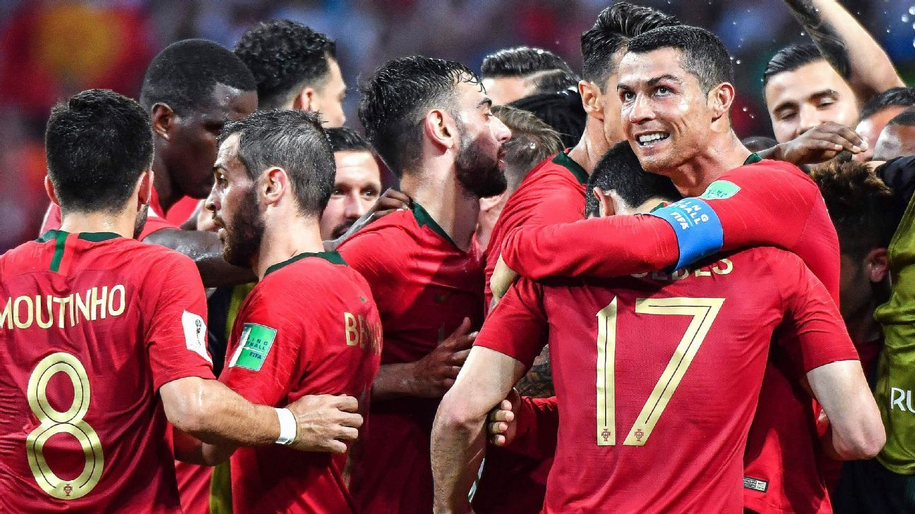 Cristiano Ronaldo stole the show during Portugal's 3-3 draw with Spain.